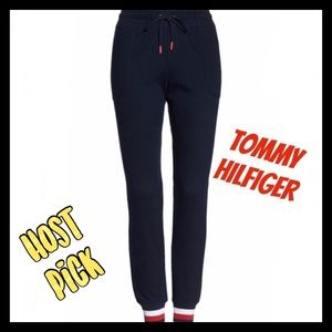 Tommy Hilfiger soft navy joggers fitted ankles